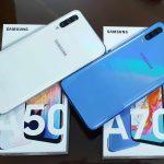 Hai anh em smartphone nhà Samsung Galaxy A70 và A50 đua tài