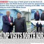 Ông Donald Trump trở thành Tổng thống Mỹ đương chức đầu tiên đặt chân vào lãnh thổ Bắc Triều Tiên