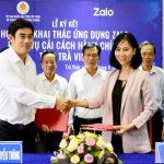 Tỉnh Trà Vinh ứng dụng Zalo trong cải cách hành chính