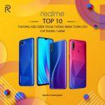 Realme vào Top 10 hãng điện thoại toàn cầu chỉ sau hơn 1 năm ra mắt