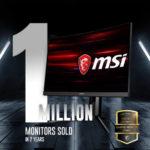 MSI bán được 1 triệu chiếc màn hình gaming
