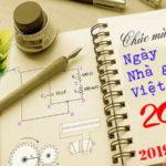 Chúc mừng Ngày Nhà giáo Việt Nam 20-11-2019