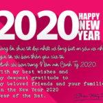 Happy New Year – Chúc mừng Năm mới 2020