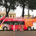 Xe buýt 2 tầng mui trần hop on – hop off thế hệ mới bắt đầu phục vụ du khách tham quan vòng quanh TP.HCM