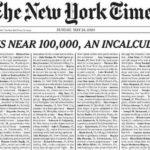 Báo New York Times tưởng niệm gần 100.000 người chết vì coronavirus ở Mỹ
