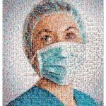 Tấm ảnh ghép vinh danh 198 nhân viên y tế Mexico chết vì COVID-19