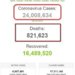 Hơn 24 triệu người trên thế giới đã mắc bệnh dịch COVID-19