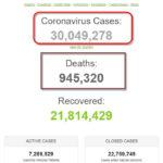 Thế giới đã có hơn 30 triệu người được ghi nhận nhiễm coronavirus SARS-CoV-2