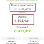 Số bệnh nhân COVID-19 trên thế giới đã vượt mốc 39 triệu người