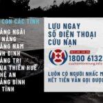 Số hotline cứu nạn trong bão số 9 Molave
