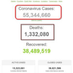 Hơn 55 triệu bệnh nhân COVID-19 trên toàn cầu