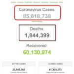 Hơn 85 triệu người nhiễm dịch COVID-19 trên thế giới
