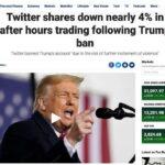 Khi cổ phiếu Twitter bị sụp… sau chuyện khóa ông Trump